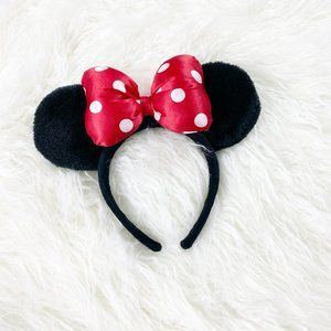 Accessories - Disneyland Minnie Mouse Ears Headband Red Bow